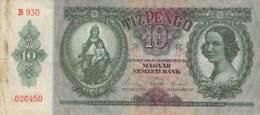 10 Pengo Banknote Ungarn 1936 - Ungarn