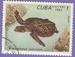 Cuba - 1983 - Fauna - Turtles - 1 C. - Cuba