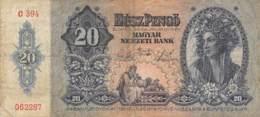 20 Pengo Banknote Ungarn 1941 - Ungarn