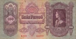 100 Pengo Banknote Ungarn 1930 - Ungarn
