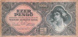 1000 Pengo Banknote Ungarn 1945 - Ungarn