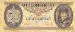 50 Forint Banknote Ungarn 1986 - Ungarn