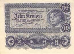 10 Kronen Banknote Österreich-Ungarn 1922 - Oesterreich