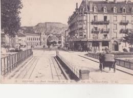 CPA -  48. BELFORT - Pont Stratégique Et Le Marché Rue Du Docteur Fréry - Belfort - Ville