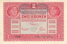 2 Kronen Banknote Deutsch-Österreich 1917 - Oesterreich