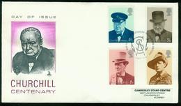 FD Großbritannien FDC 1974   MiNr 659-662   100. Geburtstag Von Winston Churchill - 1971-1980 Decimal Issues