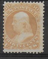 USA - YVERT N° 25 (*) SANS GOMME INFIME DEFAUT (UNE DENT COURTE EN BAS) - COTE = 2000 EUR - - Unused Stamps