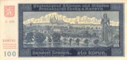 100 Kronen Banknote Böhmen Und Mähren 1940 - [ 9] Duitse Bezette Gebieden