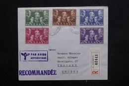 GRECE - Enveloppe De L 'Ambassade De Suisse En Recommandé De Athènes Pour La Suisse En 1963 , Affr. Plaisant - L 23944 - Briefe U. Dokumente