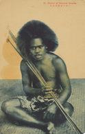 Iles Salomon Native Of Solomon  Islands  Japanese Card Rounded Corners Spot - Salomon