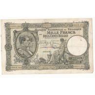 BELGIQUE 1000 FRANCS – 200 BELGAS 1939 - Belgique
