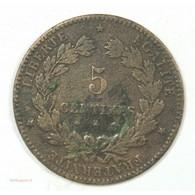 RARE Monnaie - 5 Centimes - Cérès - 1878 K - Bordeaux - TB - France