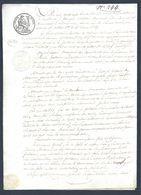 Louis Philippe Manuscrit Acte Notarié 19ème 29 Octobre 1833 Valenciennes Et Condé - Manuscritos