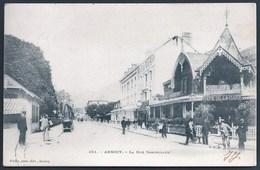 74 ANNECY  ( HTE- SAVOIE) PRECURSEUR.. ANIMEE... RUE SOMMEILLER...CAFE DE LA GARE..BRASSERIE SAVOISIENNE....C3077 - Annecy