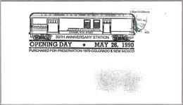 VAGON POSTAL - RAILWAY POST OFFICE. Chama NM 1990 - Correo Postal