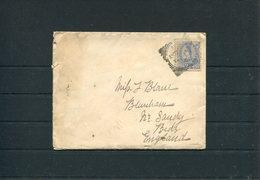 1892 New Zealand HMS TAURANGA Cover + Letter (Lyttleton Postcard). Royal Navy Australia Squadron - Blunham, Bedfordshire - 1855-1907 Crown Colony