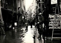 Reproduction - 75 - PARIS - Inondations 1910, Rue De Bièvre - La Crecida Del Sena De 1910