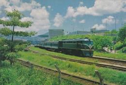 CARTOLINA - HONG KONG - THE TRAIN FROM KOWLOON TO GUANGZHAU CINA - Cina (Hong Kong)