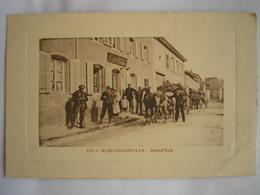 57 - CPA - ALBERSCHWEILER - Grand'Rue - Transports De Bois - SUPERBE Carte ANIMEE Peu Commune - Altri Comuni