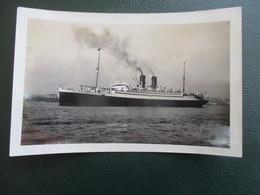 PHOTO  TRANSATLANTIQUE PAQUEBOT HALIFAX CANADA CHERBOURG CALAIS LE HAVRE BATEAU FORMAT CPA - Boats