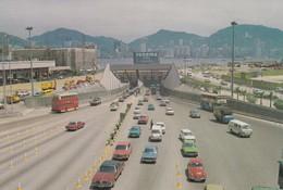CARTOLINA - HONG KONG - HARBOUR TUNNEL ENTRANCE - Cina (Hong Kong)