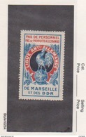 France WWI  Ligue Anti Allemande   Chicken Vignette  Military Heritage Poster Stamp - Military Heritage