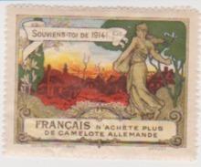 France WWI Francais N'achete Plus De Camelote Allemande Stamps Vignette Poster Stamp - Military Heritage