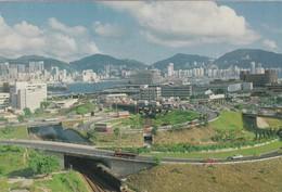 CARTOLINA - HONG KONG - THE EXIT AND ENTRANCE OF THE CROSS HARBOUR TUNNEL - Cina (Hong Kong)