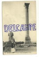 Egypte. Alexandrie. Colonne De Pompée Et Sphinx. L.L. Carte Animée - Egypte
