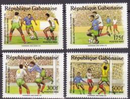 Gabon, 1989, 1045/48  , Fußball-Weltmeisterschaft 1990. MNH ** - Gabun (1960-...)