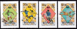 Jungferninseln, 1989, 667/71, Fußball-Weltmeisterschaft 1990, MNH ** - British Virgin Islands