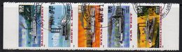 USA 1996 River Steamers Strip Of 5, Used, SG 3226/30 - Usati