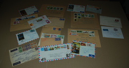 Lot De 18 Enveloppes Timbres Aviation Et Autre Nouvelle Calédonie  Togo Canada Etc Voir Les Images De Chaque Enveloppe - Postmark Collection (Covers)