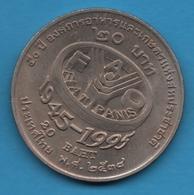 THAILANDE 20 BAHT 2538 (1995) FAO  FIAT PANIS  Y# 308  UNC - Thaïlande