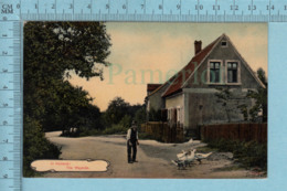 Holland - In Holland The Wayside, House Old Man, Duck - Used In 1906 + Canadian Stamp 1¢ CPA Post Card Carte Postale - Pays-Bas
