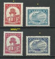 Estland Estonia 1932 Michel 94 - 97 MNH/MH - Estonie