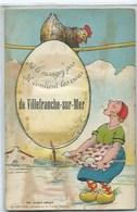 """06 - VILLEFRANCHE-SUR-MER - """"Ne Le Mangez Pas Il Contint Les Vues..."""" - CPA Tirette 10 Vues - Villefranche-sur-Mer"""