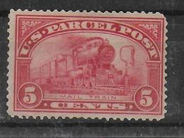 USA - YVERT N° 5 * MH (GOMME LEGEREMENT ALTEREE + DENT COURTE) COLIS POSTAUX -  COTE = 30 EUR - - Unused Stamps