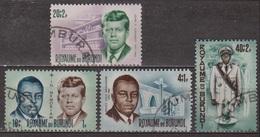 Président Kennedy - BURUNDI - Prince Rwagasore - N° 168 à 171 - 1966 - Burundi