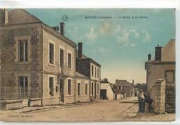 CPA 08 Ardennes Hauviné La Mairie Et Les Ecoles Non Circulée - France
