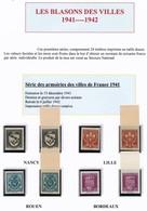 FRANCE - Armoiries De Villes (1ère Série) Dentelée Et NON DENTELÉE Bord De Feuille - Frankreich