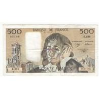 500 FRANCS PASCAL 03-01-1991 TTB Fayette 71.46 - 1962-1997 ''Francs''