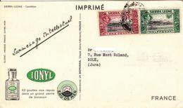 "SIERRA LEONE - ""dear Doctor Card"" -  Ionyl - Sierra Leone (...-1960)"