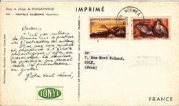 """NOUVELLE CALÉDONIE -  1954 - """"dear Doctor Card"""" -  Ionyl - Nouvelle-Calédonie"""