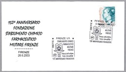 FARMACIA - PHARMACY - PHARMACIE. FARMACIA MILITAR. Firenze 2003 - Farmacia