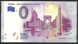 Billet Touristique 0 Euro 2018-2  Paris Les Champs Elysées - EURO