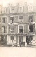 CARTE PHOTO : MAMERS DEVANTURE CAFE DE LA ROTONDE RAGAINE ET MAISON RONDE 72 SARTHE - Mamers