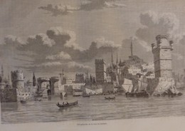 TOUR DU MONDE CHARTON 1862 GRAVURES ENGRAVINGS RHODES RODI GREECE GRECE - Books, Magazines, Comics