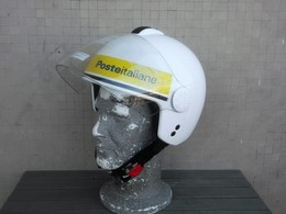 Casco Postino Motociclista Poste Italiane Originale Completo Tg. M Nuovo - Moto