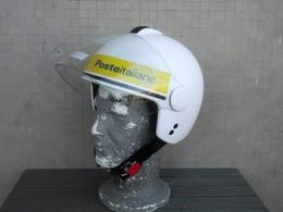 Casco Postino Motociclista Poste Italiane Originale Completo Tg. M Nuovo - Motos